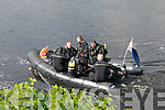 Navy divers pictured on the River Feale searching for missing Listowel man John Lynch.