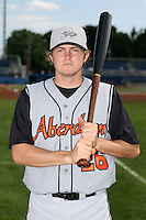 July 14th 2008:  Jason Altenhof of the Aberdeen Ironbirds, Class-A affiliate of the Baltimore Orioles, during a game at Dwyer Stadium in Batavia, NY.  Photo by:  Mike Janes/Four Seam Images