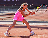 Netherlands, Rotterdam August 05, 2015, Tennis,  National Junior Championships, NJK, TV Victoria, Isabelle Haverlag    Lienka Ammar<br /> Photo: Tennisimages/Henk Koster