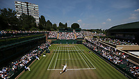 A general view of Court 18<br /> <br /> Photographer Rob Newell/CameraSport<br /> <br /> Wimbledon Lawn Tennis Championships - Day 6 - Saturday 7th July 2018 -  All England Lawn Tennis and Croquet Club - Wimbledon - London - England<br /> <br /> World Copyright &not;&copy; 2017 CameraSport. All rights reserved. 43 Linden Ave. Countesthorpe. Leicester. England. LE8 5PG - Tel: +44 (0) 116 277 4147 - admin@camerasport.com - www.camerasport.com