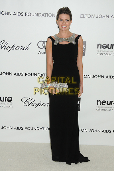 Carly Steel.20th Annual Elton John Academy Awards Viewing Party held at West Hollywood Park, West Hollywood, California, USA..February 26th, 2012.full length black dress silver clutch bag.CAP/ADM/BP.©Byron Purvis/AdMedia/Capital Pictures. Oscars