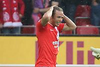 Nicolai Müller (Mainz) nach vergebener Chance  - 1. FSV Mainz 05 vs. VfL Wolfsburg, Coface Arena, 3. Spieltag