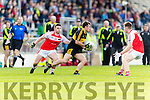 John Payne Dr Crokes in action against Gareth Hickey Dingle in the Senior County Football Semi Final in Fitzgerald Stadium on Sunday.