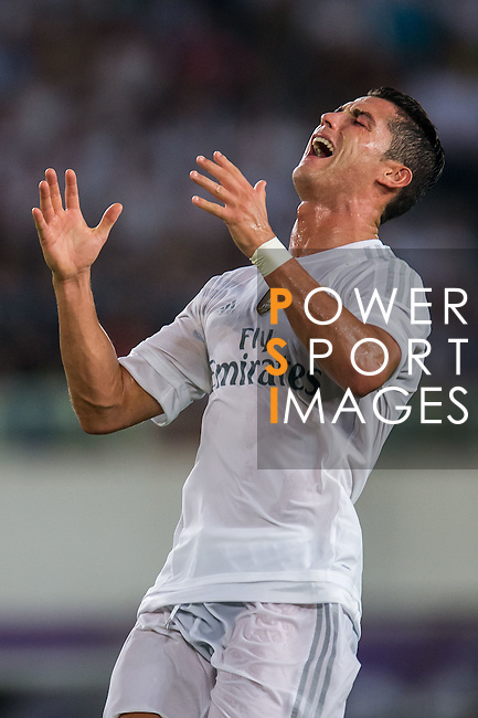 Cristiano Ronaldo of Real Madrid CF reacts during the FC Internazionale Milano vs Real Madrid  as part of the International Champions Cup 2015 at the Tianhe Sports Centre on 27 July 2015 in Guangzhou, China. Photo by Aitor Alcalde / Power Sport Images