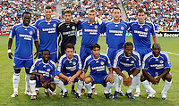 Chelsea FC's starting eleven pose for a photo before the MLS All-Star game.  The MLS All-Stars defeated Chelsea FC 1-0 at Toyota Park in Bridgeview, IL on August 5, 2006.