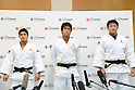 (L-R) Matthew Baker, Ryunosuke Haga, Hisayoshi Harasawa (JPN), <br /> JULY 27, 2016 - Judo : <br /> Men's Japan national team training session <br /> for Rio Olympic Games 2016 <br /> at Ajinomoto National Training Center, Tokyo, Japan. <br /> (Photo by AFLO SPORT)