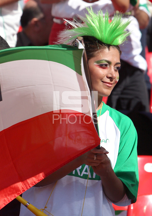 Iranian Fan. Mexico defeated Iran 3-1 during a World Cup Group D match at Franken-Stadion, Nuremberg, Germany on Sunday June 11, 2006.