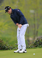 Ricardo Gouveia (POR) on the putting green during Round 4 of the Open de Espana 2018 at Centro Nacional de Golf on Sunday 15th April 2018.<br /> Picture:  Thos Caffrey / www.golffile.ie<br /> <br /> All photo usage must carry mandatory copyright credit (&copy; Golffile | Thos Caffrey)