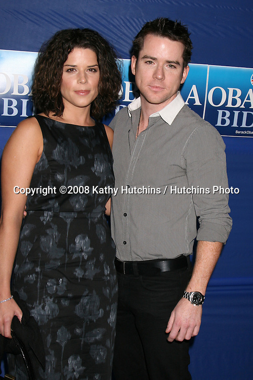 """Neve & Christian Campbell  arriving at the """"Countdown for Barack Obama"""" Event at a private home in Beverly Hills, CA on.October 17, 2008.©2008 Kathy Hutchins / Hutchins Photo...                ."""