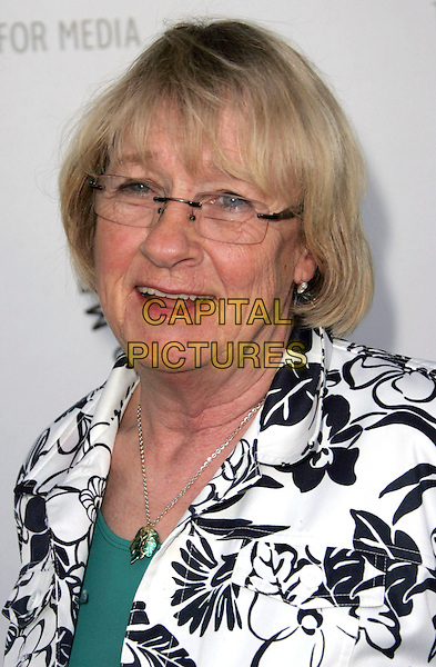 "KATHRYN JOOSTEN .The 26th Annual William S. Paley Television Festival presents ""Desperate Housewives"" held at Arclight Cinemas, Hollywood, CA, USA, 18th April 2009..portrait headshot white and black print jacket glasses  .CAP/ADM/MJ.©Michael Jade/Admedia/Capital Pictures"