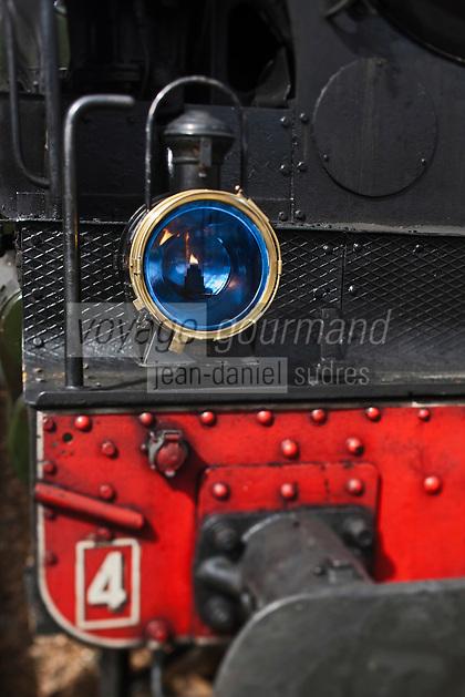 Europe/France/Aquitaine/33/Gironde/Soulac-sur-Mer: Lors de Soulac 1900 - détail de la locomotive du train à vapeur