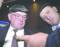 KERRY SOUTH  ELECTION COUNT MAY 18TH '02.Deputy Jackie Healy Rae TD and his son Michael Healy Rae  at the election count for Kerry South in the Gleneagle Hotel Killarney on Saturday..Picture: Eamonn Keogh (MacMonagle, Killarney) Jackie Healy-Rae, TD from the book by Don MacMonagle entitled 'Jackie - Keeping Up Appearances' published in 2002.