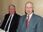 Johnny Gregory and Eddie Malone pictured at the Gardening Club annual Christmas Dinner in the Westcourt hotel. Photo:Colin Bell/pressphotos.ie