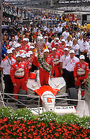 87th Indianapolis 500, Indianapolis Motor Speedway, Speedway, Indiana, USA  25 May,2003.Gil deFerran and Co. in Victory Lane..World Copyright©F.Peirce Williams 2003 .ref: Digital Image Only..F. Peirce Williams .photography.P.O.Box 455 Eaton, OH 45320.p: 317.358.7326  e: fpwp@mac.com..