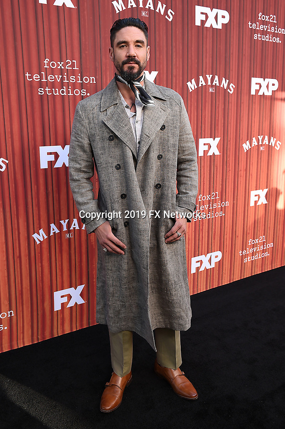 """HOLLYWOOD - MAY 29: Clayton Cardenas attends the FYC event for FX's """"Mayans M.C."""" at Neuehouse Hollywood on May 29, 2019 in Hollywood, California. (Photo by Frank Micelotta/FX/PictureGroup)"""