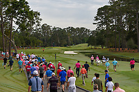 Jon Rahm (ESP) and Ross Fisher (ENG) head down 1 during round 4 of The Players Championship, TPC Sawgrass, at Ponte Vedra, Florida, USA. 5/13/2018.<br /> Picture: Golffile | Ken Murray<br /> <br /> <br /> All photo usage must carry mandatory copyright credit (&copy; Golffile | Ken Murray)