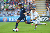June 19th 2017, Kielce, Poland; UEFA European U-21 football championships, England versus Slovakia; Jacob Murphy (ENG) turns away from the cover of Jaroslav Mihalik (SLO)