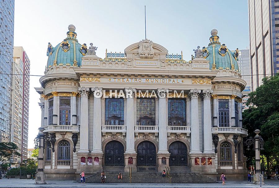 Edificio do Teatro Municipal, Rio de Janeiro. 2019. Foto de Juca Martins