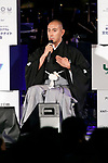 Japanese kabuki star Ichikawa Ebizo speaks during the 1000 Days to Go! cultural event in front of Tokyo Station on November 26, 2017, Tokyo, Japan. Japanese celebrities attended the event marking the 1000-day countdown to the 2020 Tokyo Olympics. (Photo by Rodrigo Reyes Marin/AFLO)