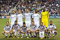 Los Angeles Galaxy starting eleven. The Los Angeles Galaxy defeated the Philadelphia Union  1-0 during a Major League Soccer (MLS) match at PPL Park in Chester, PA, on October 07, 2010.