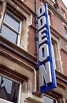 Odeon cinema sign, Colchester, Essex