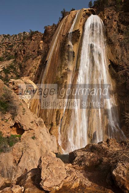 Afrique/Afrique du Nord/Maroc/Immouzer-Ida-Outanane: La cascade appelée: Voile de la mariée