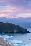 Sunrise over Point Sur Light Station near Big Sur