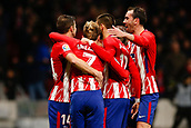 2nd December 2017, Wanda Metropolitano, Madrid, Spain; La Liga football, Atletico Madrid versus Real Sociedad;  Antonie Griezmann (7) Atletico de Madrid celebrates after scoring his team´s goal