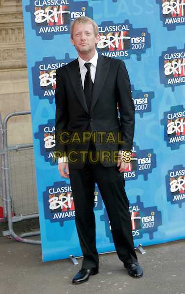 DOUGLAS HENSHALL .The Classical Brit Awards 2007, Royal Albert Hall, London, England. .May 3rd, 2007.full length black suit.CAP/AH.©Adam Houghton/Capital Pictures