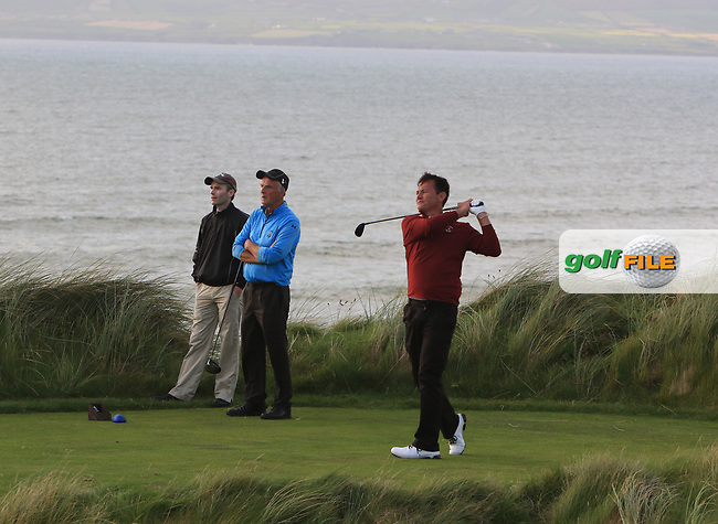 Peter Sheehan (Ballybunion) on the 17th tee during the Munster Final of the AIG Senior Cup at Tralee Golf Club, Tralee, Co Kerry. 12/08/2017<br /> Picture: Golffile | Thos Caffrey<br /> <br /> <br /> All photo usage must carry mandatory copyright credit     (&copy; Golffile | Thos Caffrey)