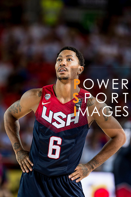 Derrick Rose of United States of America during FIBA Basketball World Cup 2014 group C between United States of America vs Turkey  on August 31, 2014 at the Bilbao Arena stadium in Bilbao, Spain. Photo by Nacho Cubero / Power Sport Images