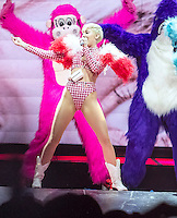 East Rutherford, NJ April 3 : Miley Cyrus performs in concert at the Izod Center in East Rutherford, NJ on April 3, 2014. Marote/Starlitepics