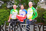 South Kerry Cyclists prepare for Kerry Galway cycle on September 7th pictured here l-r; John O'Shea, Liam Murphy & John Keating.