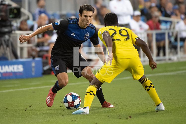 San Jose, CA - Saturday August 03, 2019: Shea Salinas #6 in a Major League Soccer (MLS) match between the San Jose Earthquakes and the Columbus Crew at Avaya Stadium.
