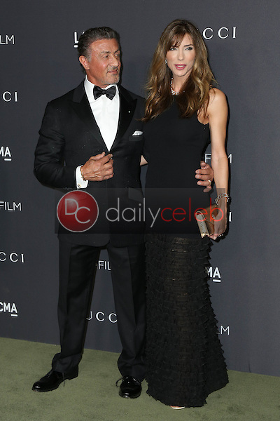 Sylvester Stallone, Jennifer Flavin<br /> at the 2016 LACMA Art +  Film Gala, LACMA, Los Angeles, CA 10-29-16<br /> David Edwards/DailyCeleb.com 818-249-4998