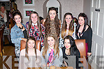 Ellen Horan, Cordal, sits between Lucia Baily (lt) and Amy King while celebrating her 16th birthday last Saturday evening in Bella Bia, Tralee also pictured are (back) l-r: Laura Skehan, Nora Murphy, Laura Gainey, Amy Sweeney and Sinead Healy.