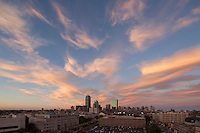 sunset skyline from Northeastern University, Boston, MA