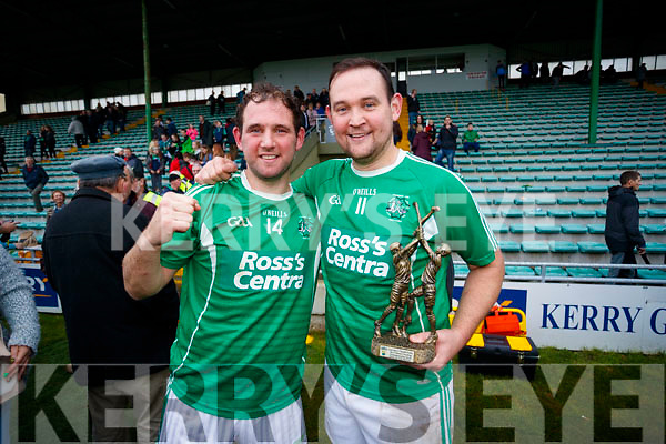 Aidan and Mikey Boyle Ballyduff celebrating after the Senior County Hurling Final in Austin Stack Park on Sunday