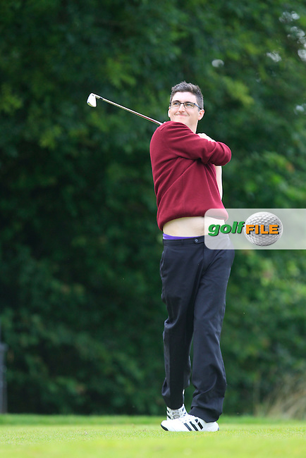 Padraig Quille (Ballybunion) on the 10th tee during the Final round of the Munster section of the AIG Pierce Purcell Shield at East Clare Golf Club on Sunday 19th July 2015.<br /> Picture:  Golffile | Thos Caffrey