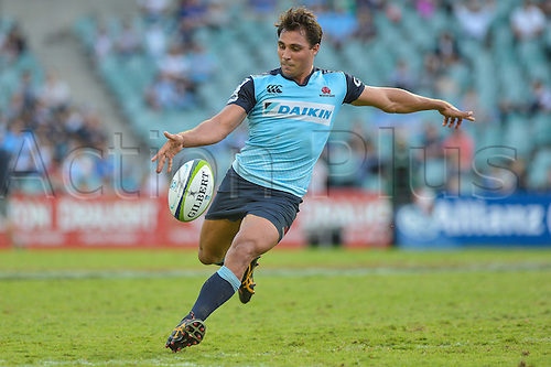 03.04.2016.  Allianz Stadium, Sydney, Australia. Super Rugby. NSW Waratahs versus Melbourne Rebels. Waratahs scrum half Nick Phipps in action. The Rebels won 21-17.