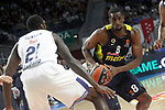 Real Madrid's Othello Hunter (l) and Fenerbahce Istambul's Ekpe Udoh during Euroleague, Regular Season, Round 29 match. March 31, 2017. (ALTERPHOTOS/Acero)