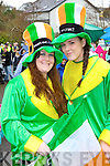 Grainne Eccles and Petriona Lyons enjoying the craic at the Killorglin St Patrick's Day parade on Monday