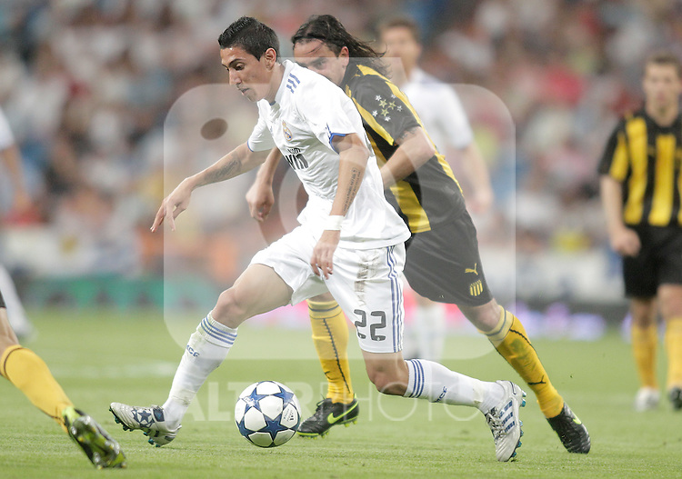 Real Madrid's Angel Di Maria during Bernabeu Trophy. August 24, 2010. (ALTERPHOTOS/Alvaro Hernandez)