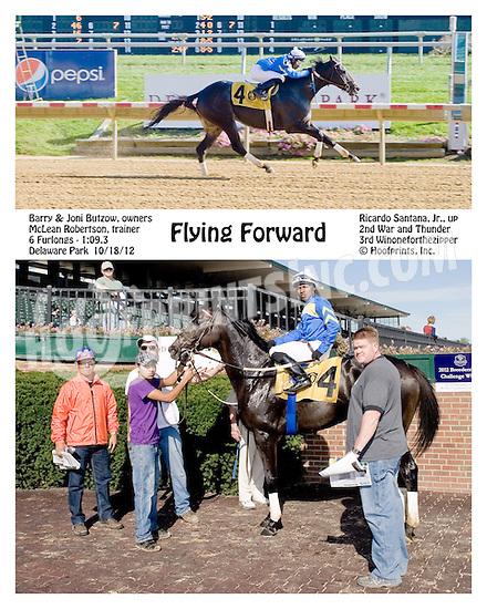 Flying Forward winning at Delaware Park on 10/18/12