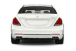 Straight rear view of2016 Mercedes Benz S Class May Bach 4 Door Sedan Rear View  stock images