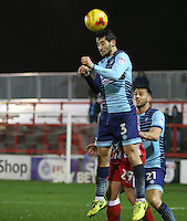 Joe Jacobson of Wycombe Wanderers <br /> during the Sky Bet League 2 match between Accrington Stanley and Wycombe Wanderers at the wham stadium, Accrington, England on 28 February 2017. Photo by Tony  KIPAX.