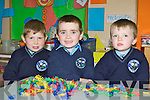 Making new friends on their first day at school in Kilcummin NS on Friday was l-r:  Michael Healy, Aaron Buckley and Brian O'Sullivan..