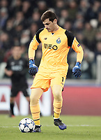 Porto's goalkeeper Iker Casillas controls the ball during the Champions League round of 16 soccer match against Porto at Turin's Juventus Stadium, 14 March 2017. Juventus won 1-0 (3-0 on aggregate) to reach the quarter finals.<br /> UPDATE IMAGES PRESS/Isabella Bonotto