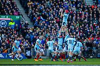 8th March 2020; Murrayfield Stadium, Edinburgh, Scotland; International Six Nations Rugby, Scotland versus France; Grant Gilchrist of Scotland wins a lineout