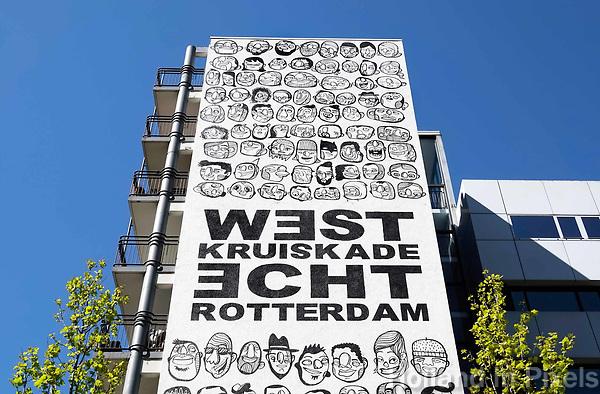 Nederland Rotterdam 2018. Muurschildering van de graffiti kunstenaar Venour. Foto Berlinda van Dam / Hollandse Hoogt